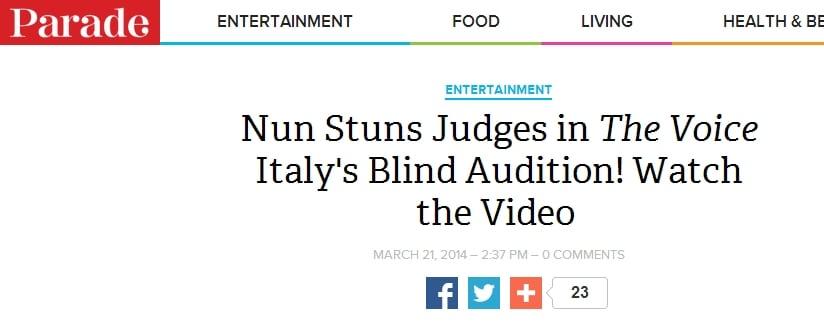 """""""Suora sbalordisce i giudici delle blind audition di The Voice of Italy!"""""""
