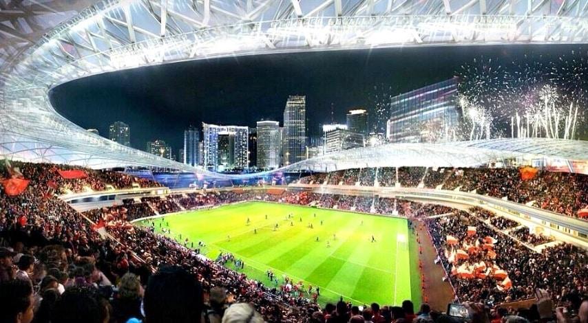 Un'arena da 50, massimo 60mila posti