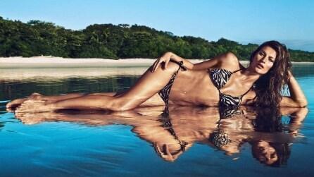 Gisele Bundchen posa in costume per la campagna estiva di H&M