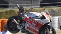 MotoGP 2014, la Ducati di Andrea Iannone dopo la caduta nei test di Jerez