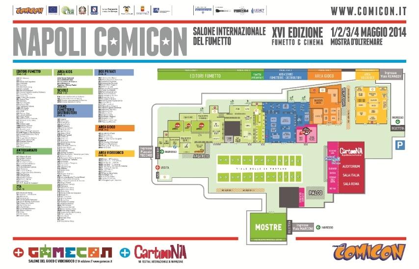 Ed'ecco la mappa al sito con l'organizzazione degli stand alla Mostra d'Oltre Mare