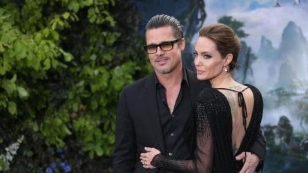 """Brad e Angelina e il look coordinato in stile """"Maleficent"""""""