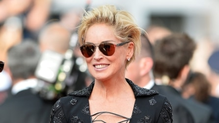 Sharon Stone, look spettinato da rock star a Cannes 2014