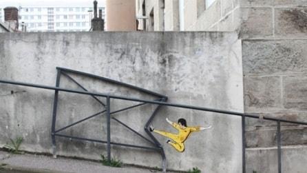 La street art che interagisce col paesaggio
