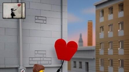 Le opere di Banksy reinventate con i LEGO