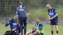 L'Italia si allena ancora a Mangaratiba: spavento per De Rossi
