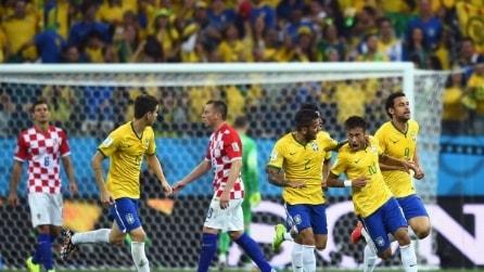 Mondiali, le immagini di Brasile-Croazia