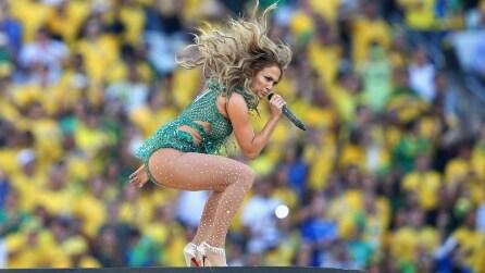 Il sexy look di Jennifer Lopez alla cerimonia d'apertura dei Mondiali di Brasile 2014