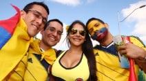Le immagini di Colombia-Grecia, Mondiali in Brasile 2014
