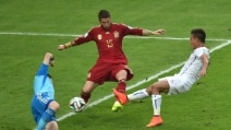 Spagna-Cile, Vargas dribbla Casillas e porta i suoi in vantaggio