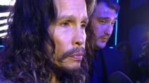 Steven Tyler alla sfilata di Roberto Cavalli