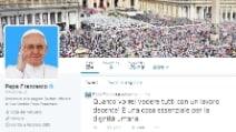"""Papa Francesco: """"Quanto vorrei vedere tutti con un lavoro decente"""""""