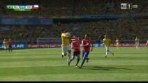 Brasile-Cile, gol annullato ad Hulk: il brasiliano tocca di mano