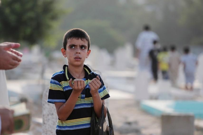Strisci di Gaza, la preghiera di un bambino