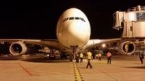 A Malpensa l'aereo di linea più grande del mondo