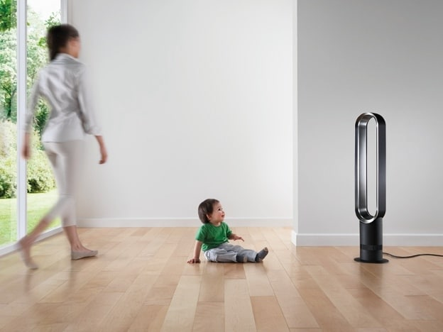 É un ventilatore senza pale di ultima generazione. Sicuro e facile da pulire, 75% più silenzioso ma con lo stesso potente flusso d'aria dei ventilatori tradizionali.