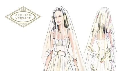 L'abito da sposa di Angelina Jolie firmato Versace