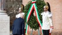 La cerimonia per il 71° anniversario della Difesa di Roma