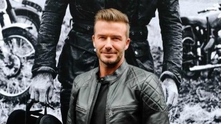 David Beckham si trasforma in motociclista per un giorno