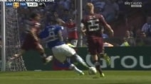 Samp-Torino, gol strepitoso di Okaka