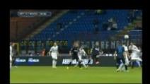 Inter-Atalanta, semirovesciata di Osvaldo per il vantaggio