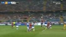 Genoa-Sampdoria 0-1, Gabbiadini sblocca su punizione