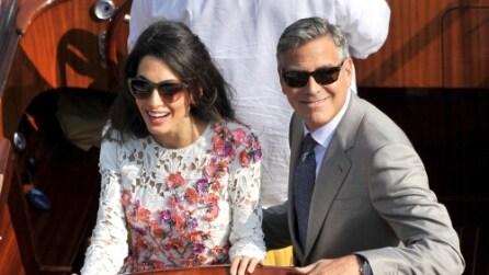 I look del matrimonio di Goerge Clooney e Amal Alamuddin