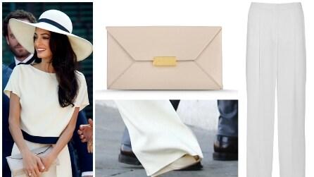 Amal Alamuddin sposa George Clooney con pantaloni e cappello