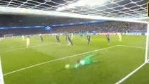 Psg-Barcellona, Messi pareggia subito il gol di David Luiz
