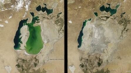 Il lago scomparso a causa di siccità e deviazione dei fiumi