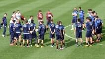 Italia-Azerbaigian, gli Azzurri ad allenamento