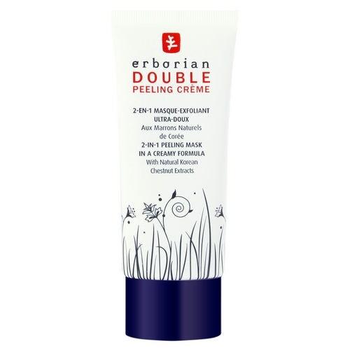 Ha una duplice azione perché elimina le cellule morte con delicatezza e lascia la pelle vellutata e perfettamente idratata.