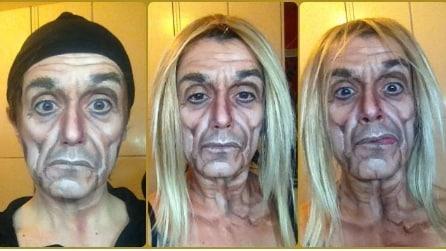 La make up artist che si trasforma in Rocky, Piero Pelù e Keith Richards