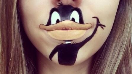 Le labbra come una tela: crea cartoni animati con il make up