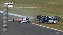 MotoGP, la caduta di Jorge Lorenzo nelle seconde libere del GP d'Australia