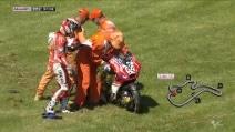 MotoGP, Andrea Dovizioso cade nel secondo turno di libere del GP d'Australia
