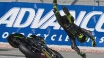 MotoGP, Sepang. Paura per Pol Espargaro: highside e moto in fiamme