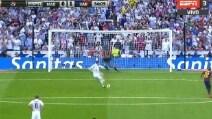 Real-Barça, Cristiano Ronaldo pareggia su rigore
