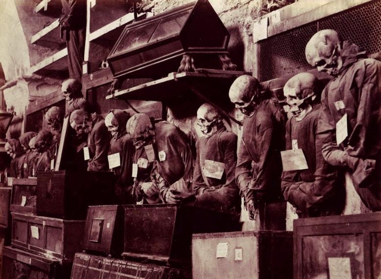 Le famose Catacombe dei Cappuccini si trovano nei sotterranei del Convento dei Cappuccini a Palermo. Il Convento è conosciuto in tutto il mondo per la presenza nei suoi sotterranei di un vasto cimitero, che attira la curiosità di numerosi turisti, fin dai secoli scorsi tappa obbligata del Grand Tour (fu visitato anche da Guy de Maupassant).