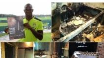 Balotelli, le foto della casa incendiata coi fuochi d'artificio