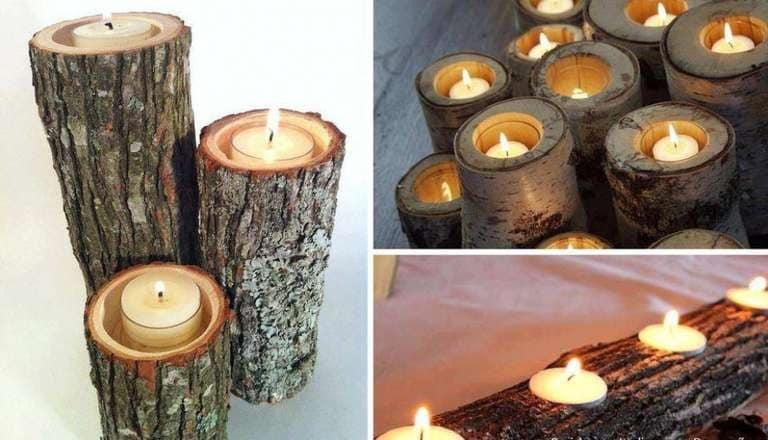 Per creare un perfetto portacandele ecosostenibile, dovremo utilizzare un ramo di un albero e scavare abbastanza da farci entrare una candela: sembrerà un souvenir proveniente dai freddi paesi nordici.
