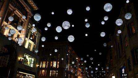 Le luminarie di Natale a Londra
