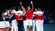 La gioia e la commozione d Federer per la vittoria della Davis