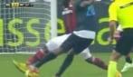 Milan-Inter, sinistro preciso di Obi per il pareggio