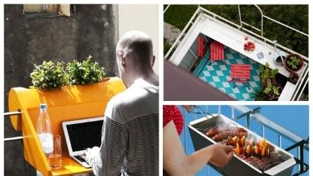 10 idee creative per arredare il vostro balcone
