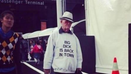 Ecco cosa succede quando gli anziani ignorano il significato delle scritte sulle magliette
