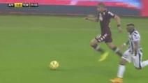 Juve-Torino, Bruno Peres parte da dietro il centrocampo e firma il pareggio