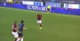 """Roma-Inter, Holebas """"imita"""" Bruno Peres e riporta i suoi in vantaggio"""