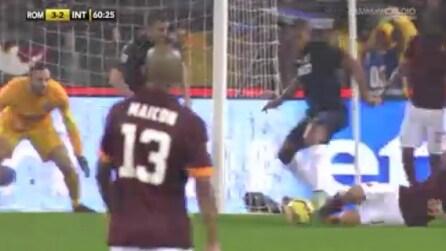 Roma-Inter, Pjanic sigla il nuovo vantaggio dei giallorossi