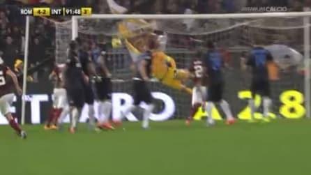 Roma-Inter, Pjanic chiude il match con una punizione fantastica